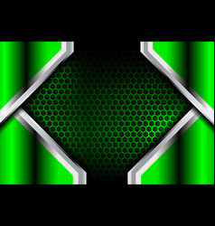 Green abstract metal background vector