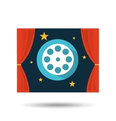 concept cinema theater film reel graphic design vector image