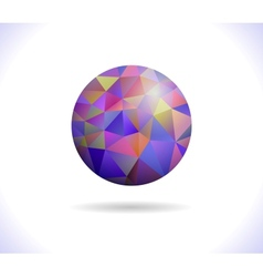 Prismatic faceted sphere vector