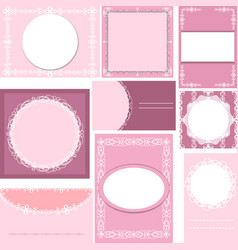 Set of templates for cardsweddingbirthday vector