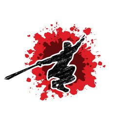 kung fu pose vector image