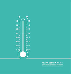 Meteorology thermometer with celsius fahrenheit vector