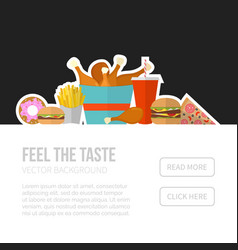 Poster of unhealthy fast food eating vector