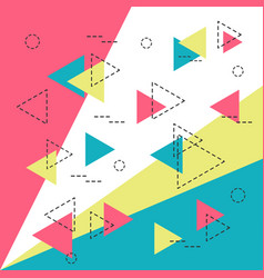 Hipster geometric background vector