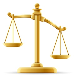 Unbalanced scale of justice vector
