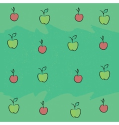 Seamless pattern with apples and plums vector