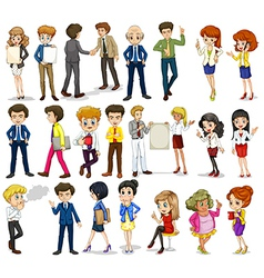 A group of business-minded people vector image