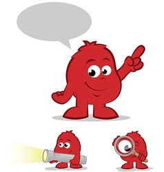 Red Character Set vector image