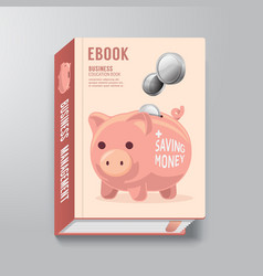 Book Cover Design Template Business Piggy Bank vector image