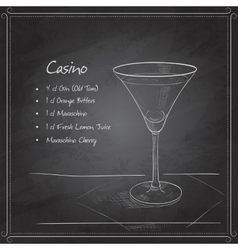 Coctail casino on black board vector