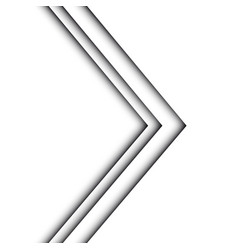 abstract white arrow design modern vector image vector image