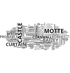 Berkhamsted castle text word cloud concept vector