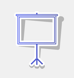 blank projection screen new year bluish vector image