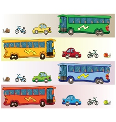 Cartoon bus vector image