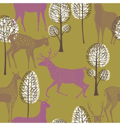 deer wallpaper vector image vector image