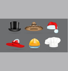 different kind of fashion hat modern elegance cap vector image vector image
