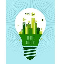 Go green city idea vector image vector image