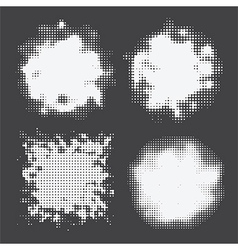 halftone set white vector image vector image