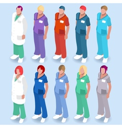 Hospital 14 People Isometric vector image vector image