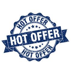 Hot offer stamp sign seal vector