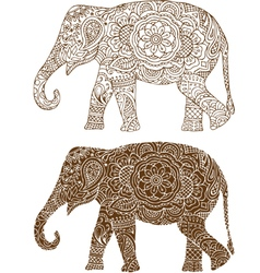 Indian elephant patterns vector