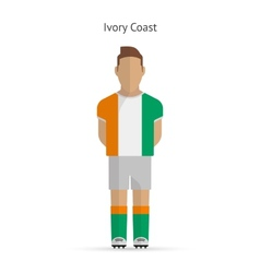 Ivory coast football player soccer uniform vector