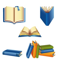 Knowledge book set vector image vector image