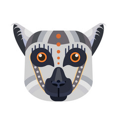Lemur head logo madagascar lemur vector