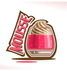 Logo for mousse dessert vector