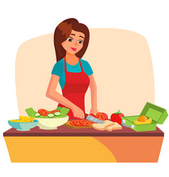 Lunch box making a healthy school lunch vector