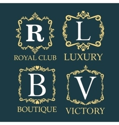 Luxury royal club boutique and victory design vector