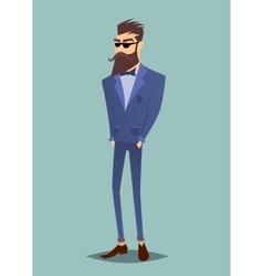 Modern hipster stand vector image vector image