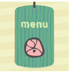 Outline meat cutting icon modern infographic logo vector