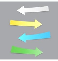 paper arrows shadow vector image vector image