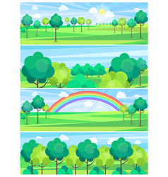 park in summertime and nice weather poster vector image vector image
