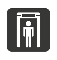 Person scanner machine airport check vector