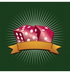 red dice vector image vector image