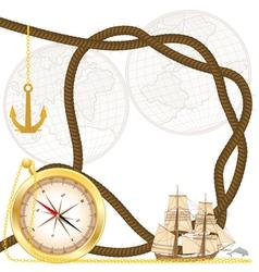 sea travel frame vector image