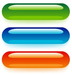 Transparent web buttons vector