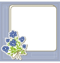Vintage frame with flowers retro background vector image