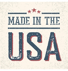 Vintage made in the usa stamp vector