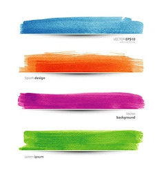 Watercolor set vector image vector image