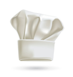 White chef hat photorealistic vector