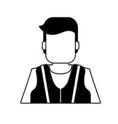 Worker avatar with industrial safety icon image vector