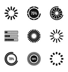 Download page icons set simple style vector