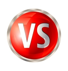 Versus button isolated vector