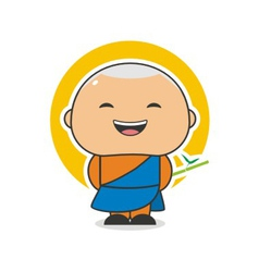 Happy Monk vector image