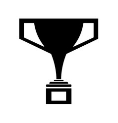 silhouette trophy victory winner american football vector image