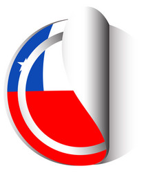 Sticker design for flag of chile vector