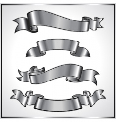 silver ribbons vector image